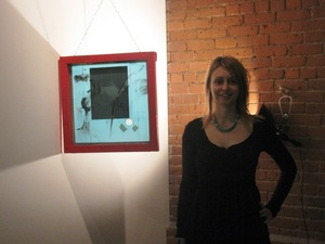 Me with one of my pieces John
