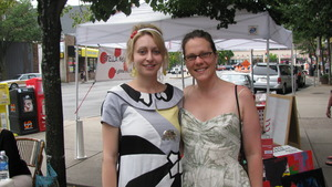 Me and Sarah in front of my display