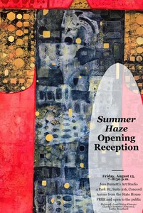 Summer Haze reception flyer featuring Kathy Bouchard039s work
