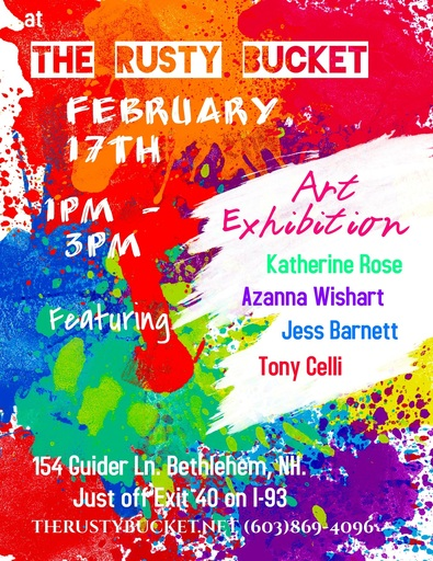 Two upcoming art shows Rusty Bucket and Artistic Roots