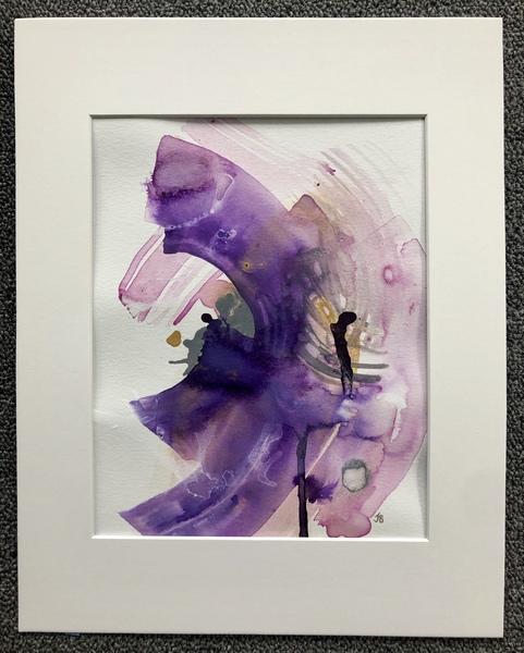 Violet Spring (original watercolor/gouache)